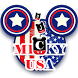 American flag and Mickey input method by Hello Keyboard Theme