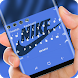 Blue nike Keyboard theme by My 2018 Theme Design