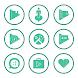 Emerald On White Icons By Arjun Arora by Arjun Arora