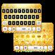 Black & Gold Keyboard by Keyboard Tema Designer
