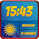 Best Weather and Clock Widget by Customize My Phone