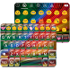 Rainbow Stripe Emoji Keyboard❤ by Colorful Art