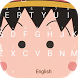 Kawaii Baby Girl Theme&Emoji Keyboard by Fun Emoji Theme Creator