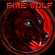 Burning Wild Fire Wolf by HD wallpaper and theme