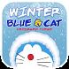 Winter Blue Cat Theme&Emoji Keyboard by Fun Emoji Theme Creator