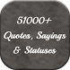 Awesome Quotes,Sayings, Status by Fine Applications