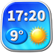 Digital Clock Weather Widget by Super Widgets