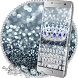 Princess Silver Crown Glitter Keyboard Theme by The Best Android Themes