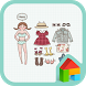 PaperDoll Dodol launcher theme by iConnect