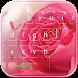Pink rose Keyboard theme by hot keyboard themes
