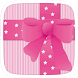 Go Pink Bow Theme by Heartful Theme