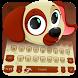 Aurum Cute Puppy Typewriter by Me&Art Android Theme Designer