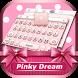 Pinky Dream Theme&Emoji Keyboard by Cool Keyboard Theme Design