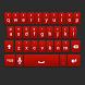 Red Galaxy Keyboard Skin by Stealthychief Keyboard Themes