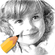 Pencil Sketch With Color Free by Xatedses Mobile