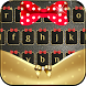 Gold Bowknot Keyboard Theme by Theme Lovely