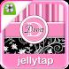 Pink Striped Monogram Locker ★ by Jellytap