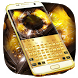 Gold Luxury Metal Keyboard Theme by Super Cool Keyboard Theme