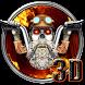 3D Fire Biker Skull Theme by no.1 3D Theme