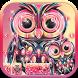 Cute owl Keyboard Theme by Fantasy Keyboard studio