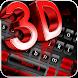 3D Black Red Keyboard Theme by Echo Keyboard Theme