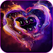 Neon Heart Keyboard Theme by Keyboard Design Paradise