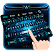 Neon Blue tech Keyboard by M Typewriter Theme Studio