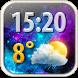 Magic Weather Clock Widget by Super Widgets