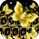 Gold butterfly keyboard by Keyboard Design Paradise