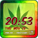 Weed Clock Weather Widget by Customize My Phone