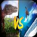 Snowboarding Attack Dinosaurs by DuchezCo.