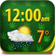 Weed Clock Weather Widget by Super Widgets