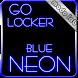 Blue Neon GO Locker theme by modo lab