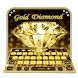 Gold glitter diamond keyboard by Keyboard Design Paradise