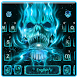 Neon Skull Flame Keyboard by Super Cool Keyboard Theme
