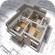 3D House Plans - 3 Bedroom by Easy Style Design App
