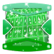 Fluorescent green Keyboard by Gradient Themes