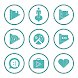 Teal On White Icons By Arjun Arora