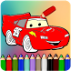 How to color Mcqueen Cars by ColoringGamesForKids01