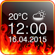 Fire Digital Weather Clock by The World of Digital Clocks