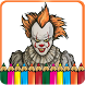 How To Color Pennywise IT -Coloring Game by NopauseInk