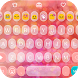 Pink Love Emoji Keyboard Theme by Colorful Design