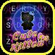 Glitter Cute Kitten Theme&Emoji Keyboard by Fun Emoji Theme Creator