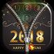 Happy New Year Zipper Lock Screen by Borkos Apps