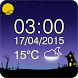 Scary Clock Widget by The World of Digital Clocks