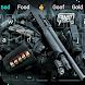 Police guns arms keyboard theme