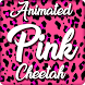 Pink Cheetah Keyboard Theme - Animated Keyboard