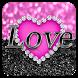 Pink Love Diamond Keyboard by Cool Keyboard Theme Studio