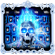 3D Fire Death Skull Keyboard Theme by Super Cool Keyboard Theme