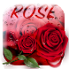Red Rose Waterdrops Keyboard
